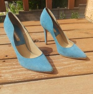 Michael Kors Blue Suede Pointed Toe Pumps